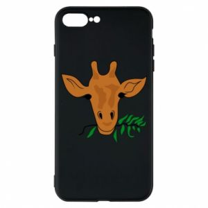 Phone case for iPhone 8 Plus Giraffe with a branch