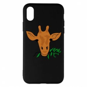 Etui na iPhone X/Xs Giraffe with a branch