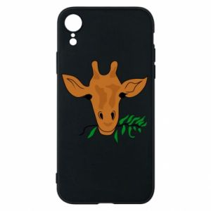 Phone case for iPhone XR Giraffe with a branch