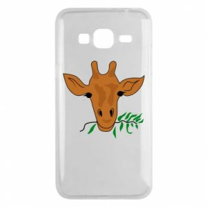 Phone case for Samsung J3 2016 Giraffe with a branch