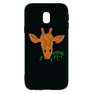 Phone case for Samsung J3 2017 Giraffe with a branch