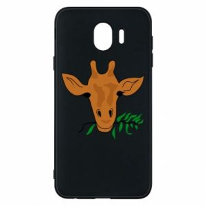 Phone case for Samsung J4 Giraffe with a branch