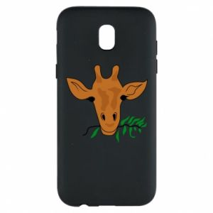 Phone case for Samsung J5 2017 Giraffe with a branch