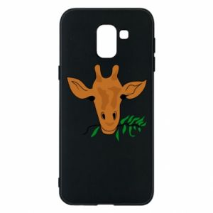 Phone case for Samsung J6 Giraffe with a branch