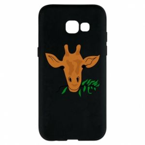 Phone case for Samsung A5 2017 Giraffe with a branch