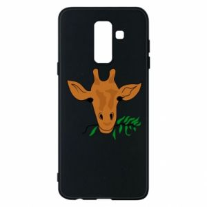 Phone case for Samsung A6+ 2018 Giraffe with a branch