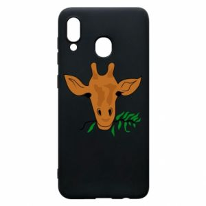 Phone case for Samsung A20 Giraffe with a branch