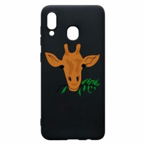 Phone case for Samsung A30 Giraffe with a branch