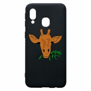 Phone case for Samsung A40 Giraffe with a branch