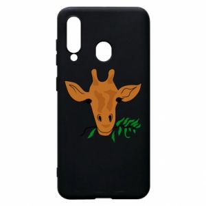 Phone case for Samsung A60 Giraffe with a branch