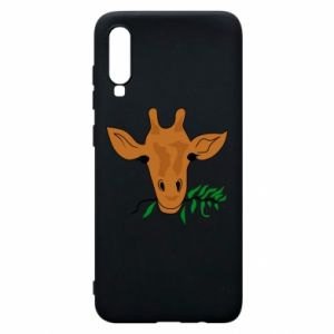 Phone case for Samsung A70 Giraffe with a branch