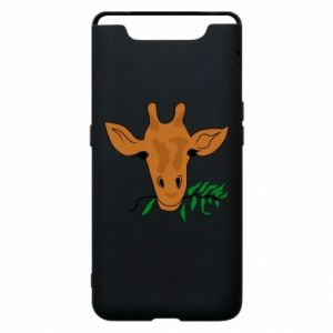 Phone case for Samsung A80 Giraffe with a branch