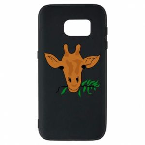 Phone case for Samsung S7 Giraffe with a branch