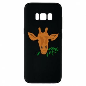 Phone case for Samsung S8 Giraffe with a branch