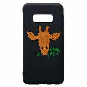 Phone case for Samsung S10e Giraffe with a branch