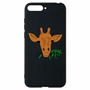 Phone case for Huawei Y6 2018 Giraffe with a branch