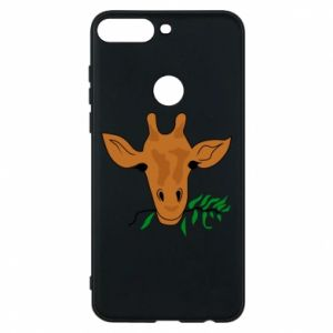 Phone case for Huawei Y7 Prime 2018 Giraffe with a branch