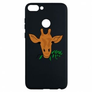 Phone case for Huawei P Smart Giraffe with a branch