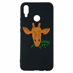 Phone case for Huawei P Smart Plus Giraffe with a branch