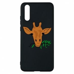 Etui na Huawei P20 Giraffe with a branch