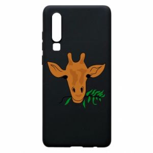 Phone case for Huawei P30 Giraffe with a branch