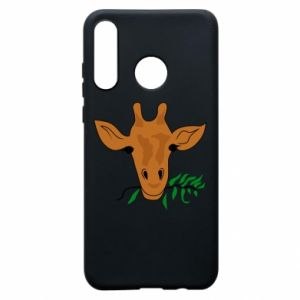 Phone case for Huawei P30 Lite Giraffe with a branch