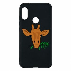 Phone case for Mi A2 Lite Giraffe with a branch