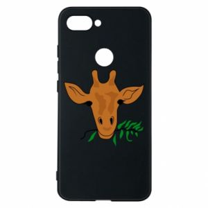 Phone case for Xiaomi Mi8 Lite Giraffe with a branch