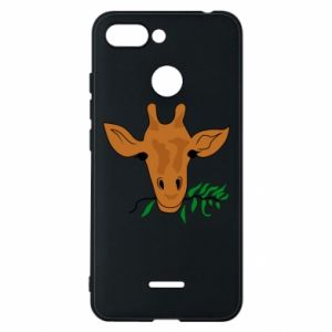 Phone case for Xiaomi Redmi 6 Giraffe with a branch