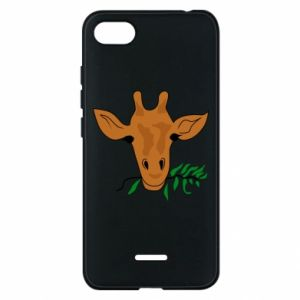 Phone case for Xiaomi Redmi 6A Giraffe with a branch