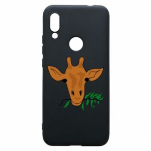 Phone case for Xiaomi Redmi 7 Giraffe with a branch