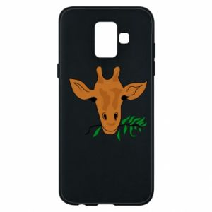 Phone case for Samsung A6 2018 Giraffe with a branch