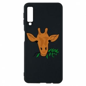 Phone case for Samsung A7 2018 Giraffe with a branch
