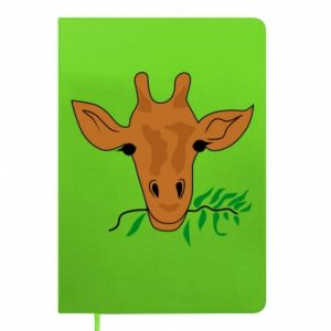 Notepad Giraffe with a branch