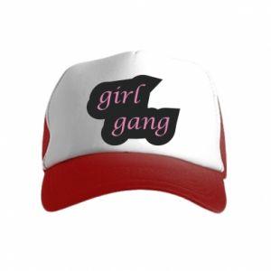 Czapka trucker dziecięca Girl gang