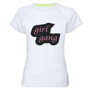 Koszulka sportowa damska Girl gang