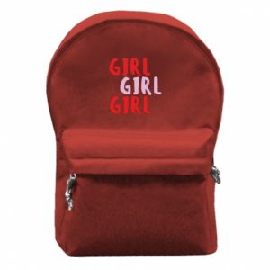 Backpack with front pocket Girl girl girl