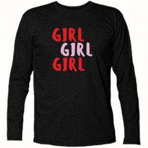 Koszulka z długim rękawem Girl girl girl