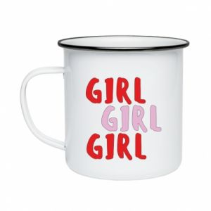 Enameled mug Girl girl girl