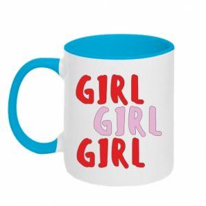 Kubek dwukolorowy Girl girl girl
