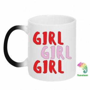 Kubek-kameleon Girl girl girl