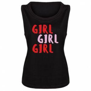 Damska koszulka bez rękawów Girl girl girl