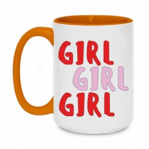 Two-toned mug 450ml Girl girl girl