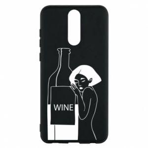 Phone case for Huawei Mate 10 Lite Girl hugging a bottle of wine - PrintSalon