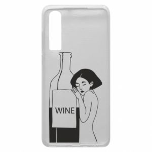 Phone case for Huawei P30 Girl hugging a bottle of wine - PrintSalon