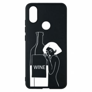 Phone case for Xiaomi Mi A2 Girl hugging a bottle of wine - PrintSalon