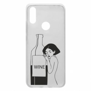 Phone case for Xiaomi Redmi 7 Girl hugging a bottle of wine - PrintSalon