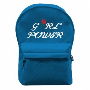 Backpack with front pocket Girl power rose