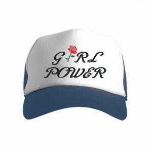 Czapka trucker dziecięca Girl power rose