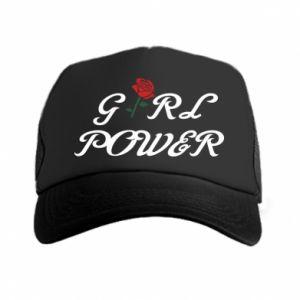 Czapka trucker Girl power rose